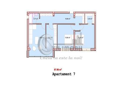 Apartament 3 camere Decomandat foarte spatios