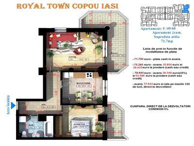 Royal Town Copou Iasi - Apartament 3 camere