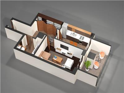 Apartament o camera 45mp