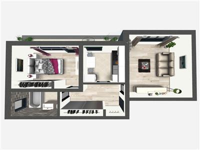 Apartament 2 camere decomandat  49.500 E