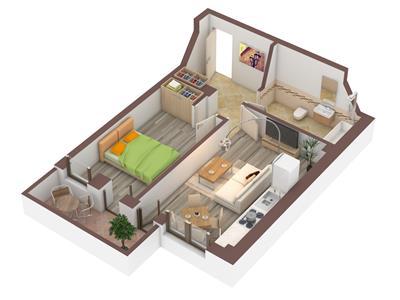 Apartament 2camere 58mp