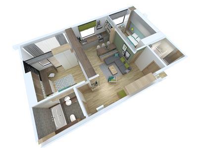 Apartament 3 cam -71mp - Cug - Zona de vile
