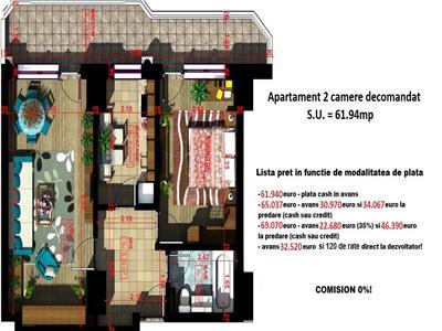 Apartament 2 camere 62mp - Copou