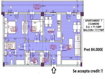 Apartament 3camere, 2bai -  Pacurari