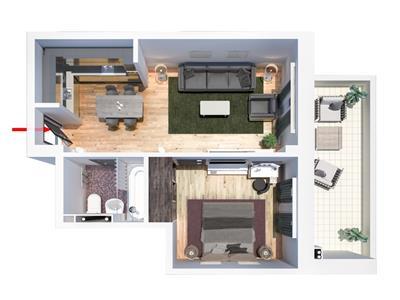 Apartament 2 camere Tatarasi,  37000euro,tip H
