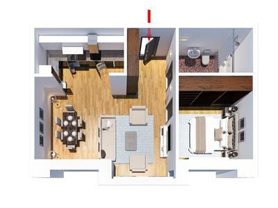 Apartament 2 camere Tatarasi,  47250 euro, tip F