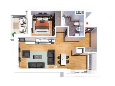 Apartament 2 camere Tatarasi,  53 500 euro, tip E