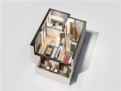 Apartament 2 camere, Blocul 1