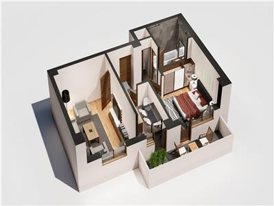 Apartament 2 camere decomandat - Tatarasi - Flux
