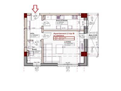 Apartament 1 camera, Blocul 2