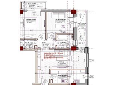 Apartament 3 camere, Blocul 2