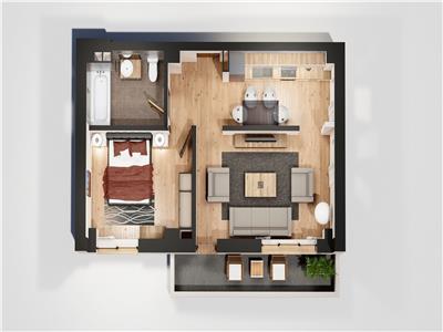 Apartament 2 camere, Blocul 2