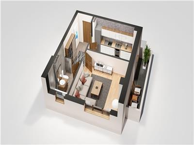 Apartament 1 camera, bloc nou, Tatarasi