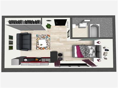 Promo: Apartament cu 1 camera, Bucium, 29,5mp utili, 29.500 euro
