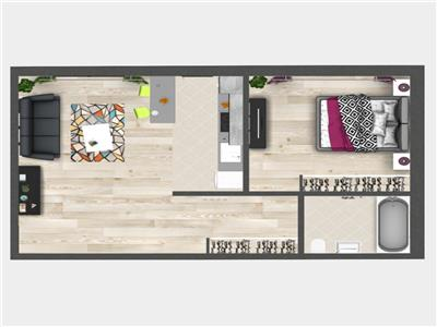 Promo: Apartament cu 2 camere, Bucium, 50.25 mp utili, 50.250 euro