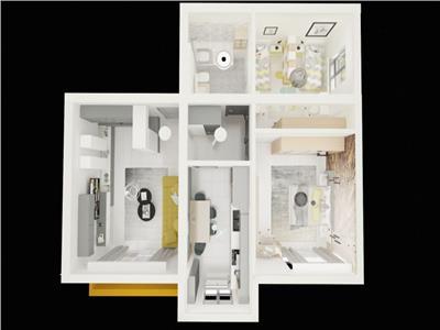 Apartament - 3 camere - 69 mp