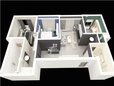 Apartament - 3 camere - 67 mp Bucium