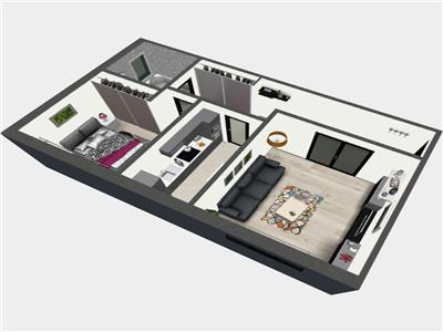 Apartament cu 2 camere decomandat la cheie 56mp, Bucium OMV