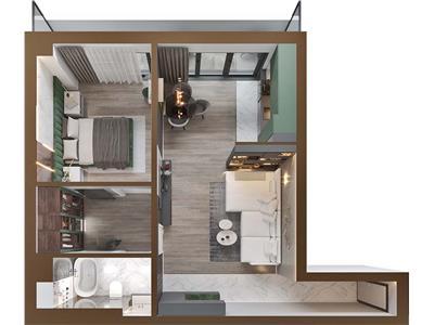Apartament cu 2 camere, complex rezidential nou COPOU
