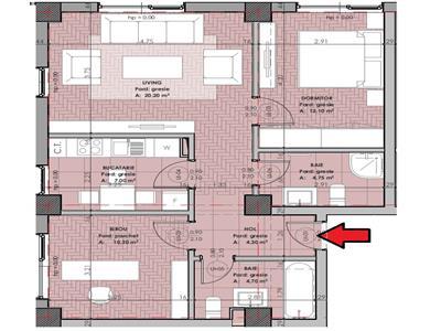 Apartament 3 camere decomandat, complex rezidential nou COPOU