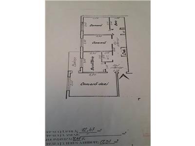 Apartament 3 camere,72mp,2 bai, Pacurari -Canta