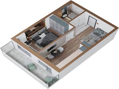 Apartament cu o camera,49.8mp, Copou, 49800 euro