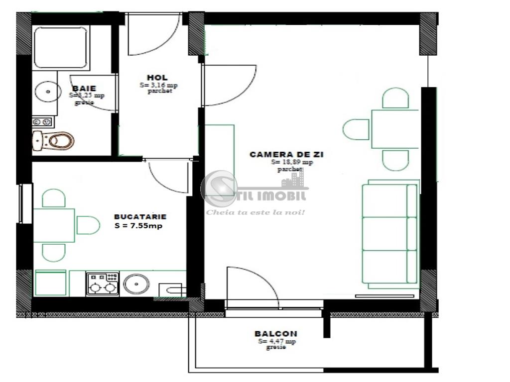 Apartament o camera Pacurari  29500 euro