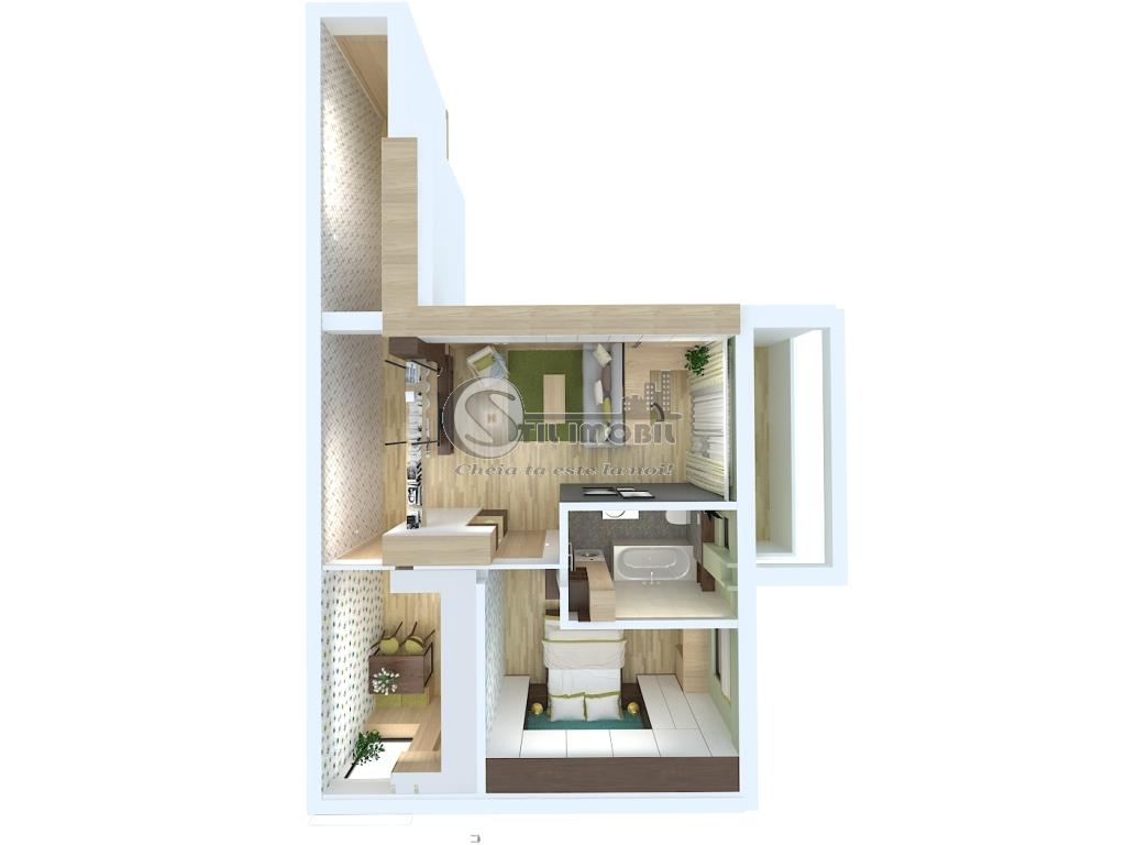 Apartament 2 cam 59mp - Capat Cug - Mutarte imediata
