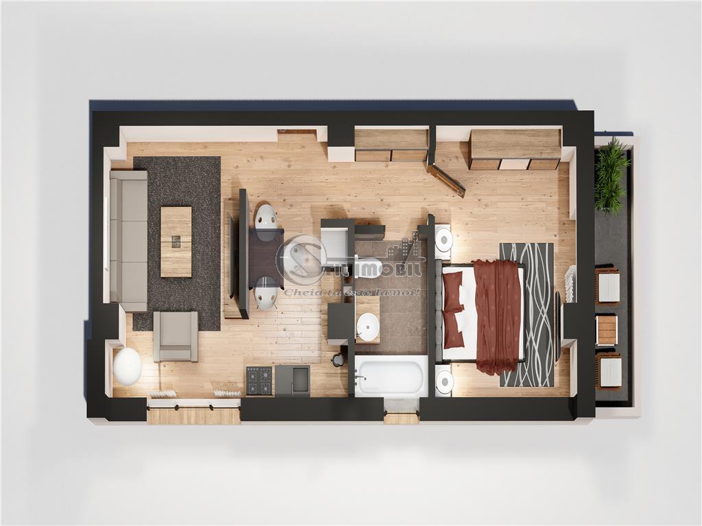 Apartament 2 camere, Blocul 2 Oancea