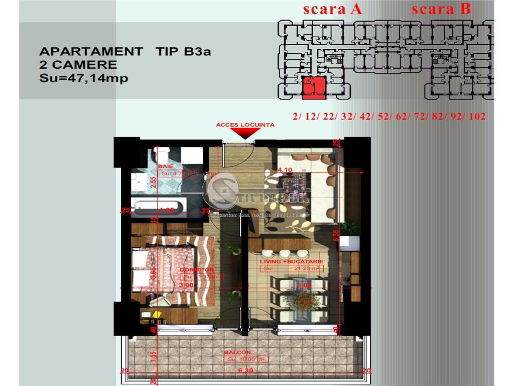 Apartament 2 camere - 47.200Euro - Copou