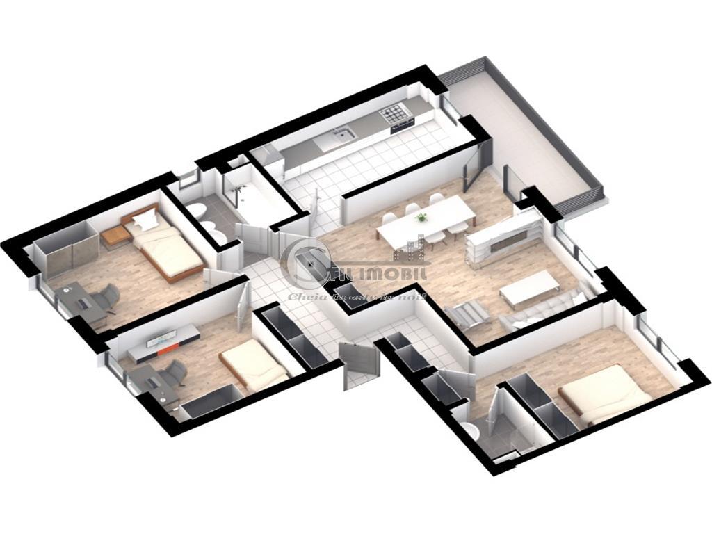Apartament 4 camere, decomandat, cartier rezidential, Tatarasi, 96.4mp