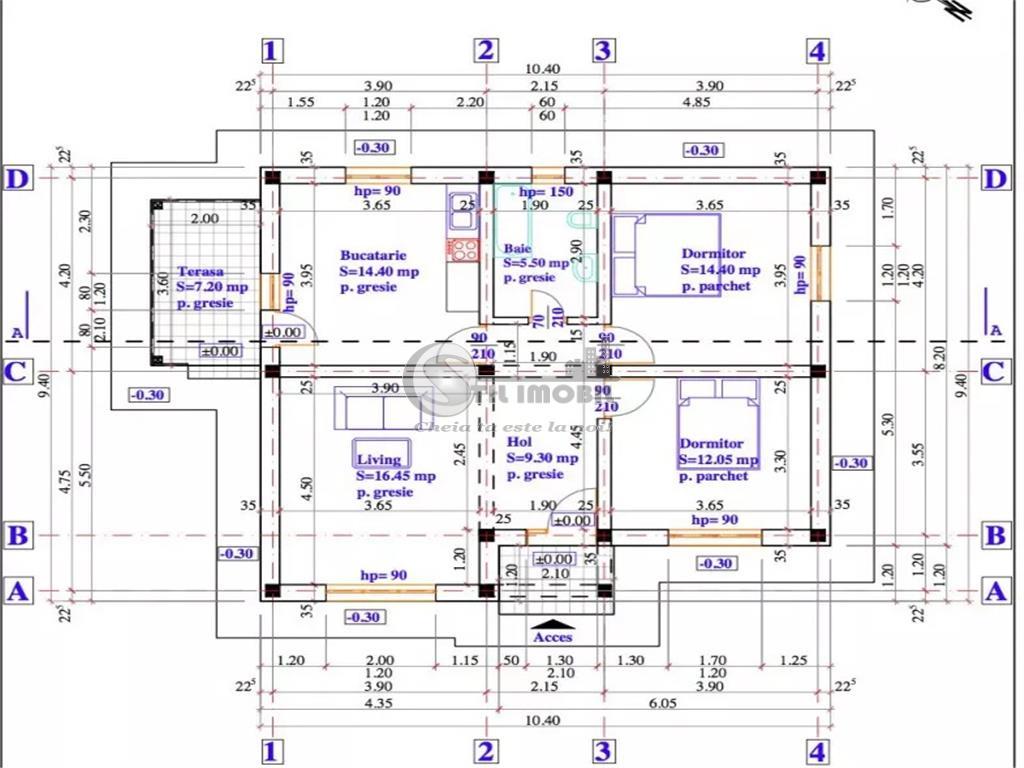 Casa individuala plan parter
