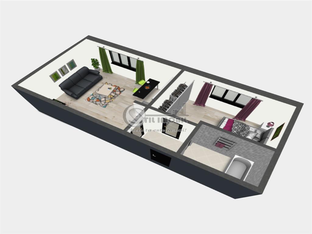Apartament cu 2 camere, Bucium, 42.75 mp utili, 42.750 euro