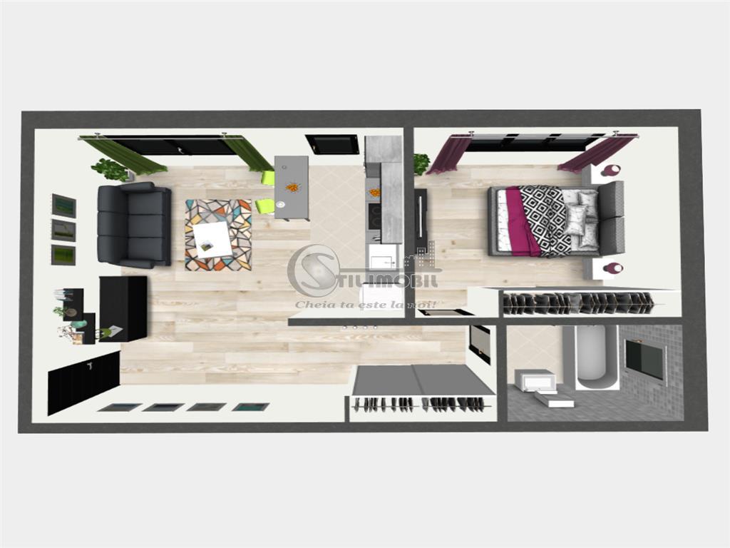 Promo: Apartament cu 2 camere, Bucium, 57.60 mp utili, 55.000 euro