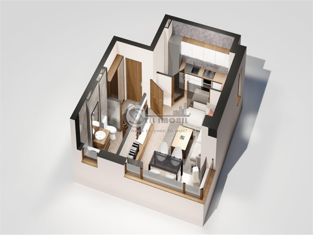 Apartament 1 camera Tatarasi Oancea, 49000euro