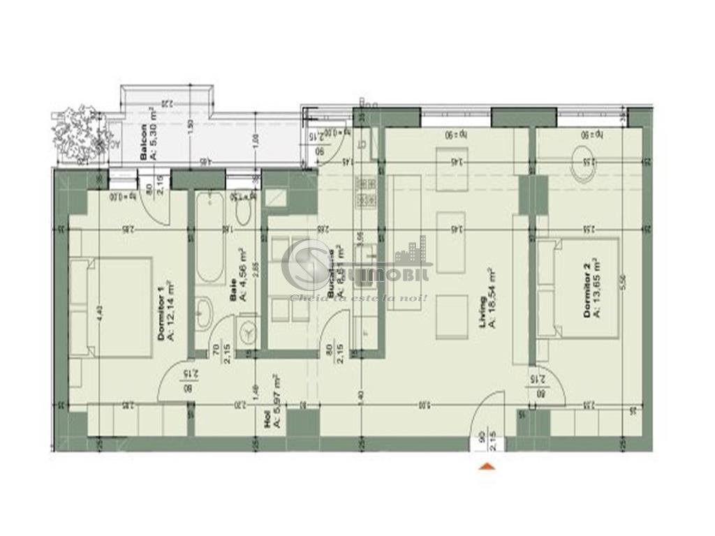 Apartament 3 camere, Tatarasi bloc nou