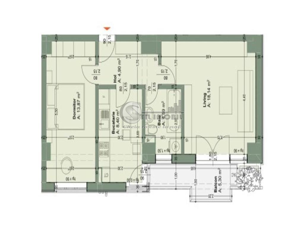 Rate dezvoltator 2 camere,56mp Tatarasi- bloc nou