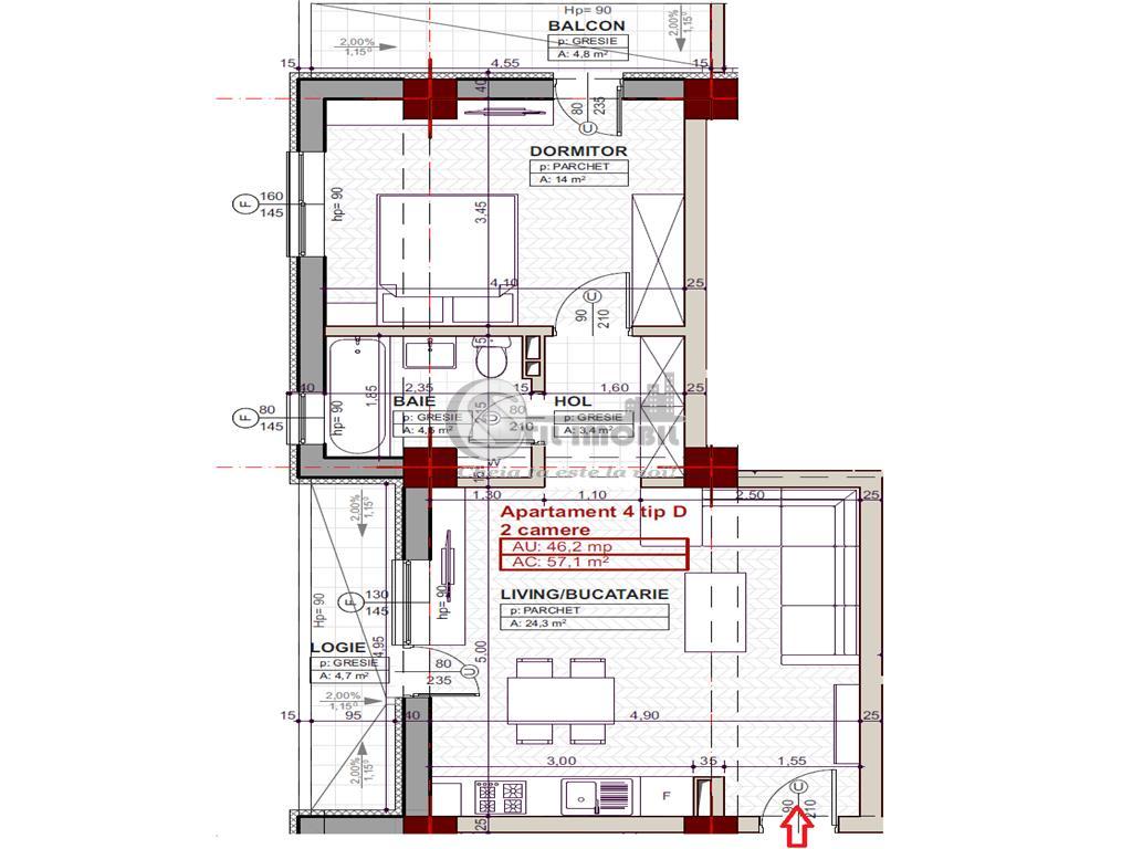 Apartament 2 camere, Tatarasi -in spate Iulius Mall