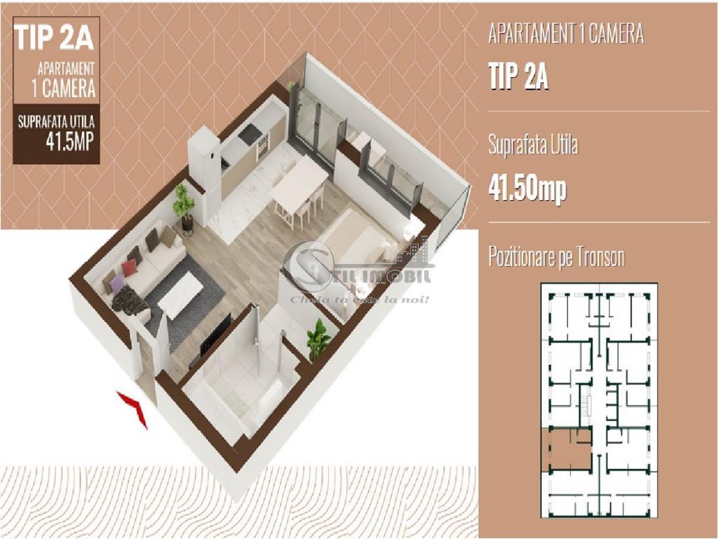 COPOU APARTAMENT 1 CAMERA 50MP  45650EURO