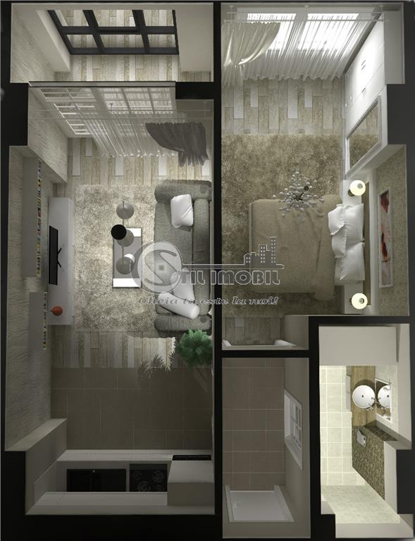 Apartament 2 camere open 37mp,CUG L Cetatuii bloc nou