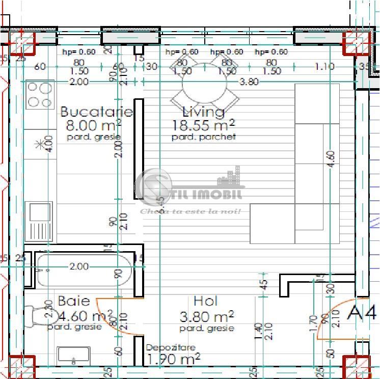 Apartament cu 1 camera 37mp Pacurari-Rediu