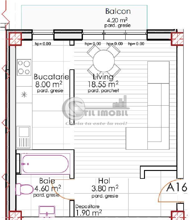 Apartament 1 camera,etajul 3 din 3, in Rediu la 1200m de Rond Pacurari