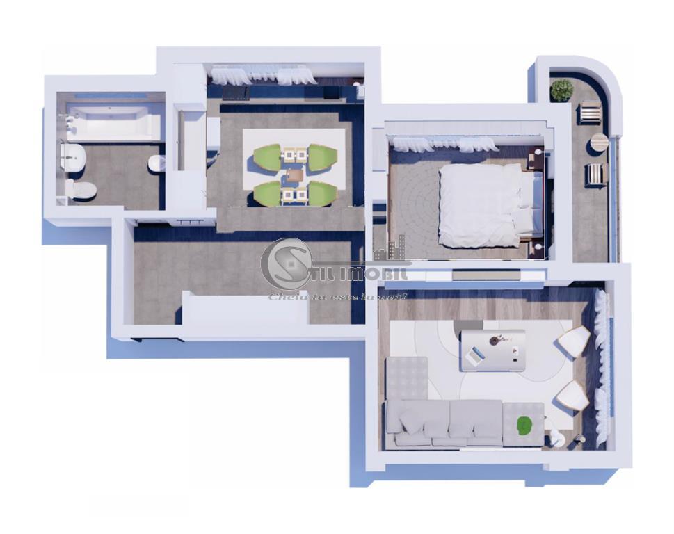 Bucium, Bloc Nou, 2 camere decomandat, 58800 euro. 61 mp