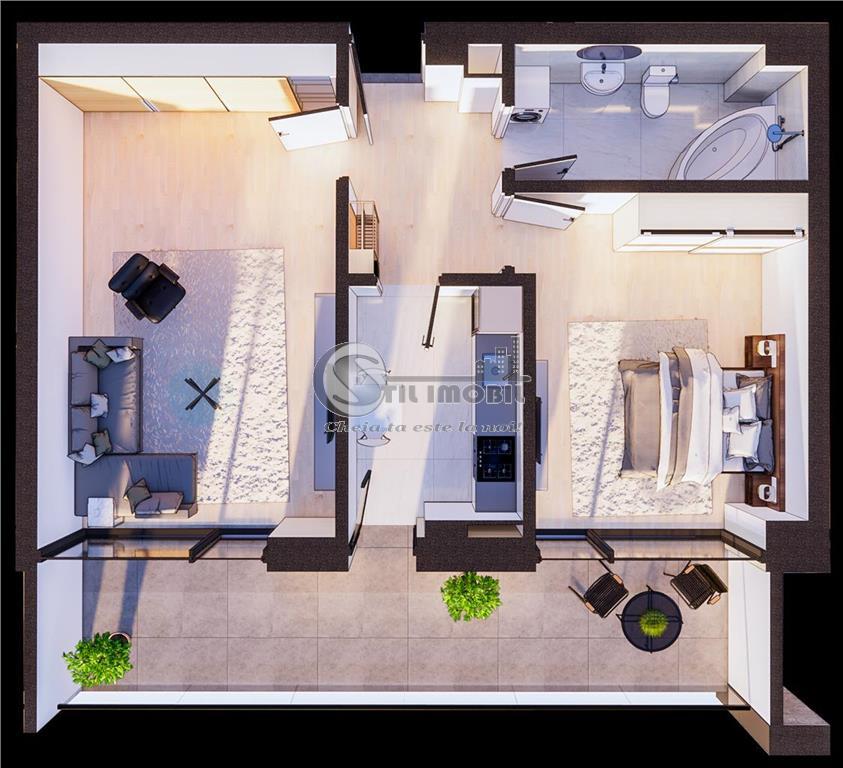 Copou, 2 camere decomandat, Bloc Nou, 107.300 euro