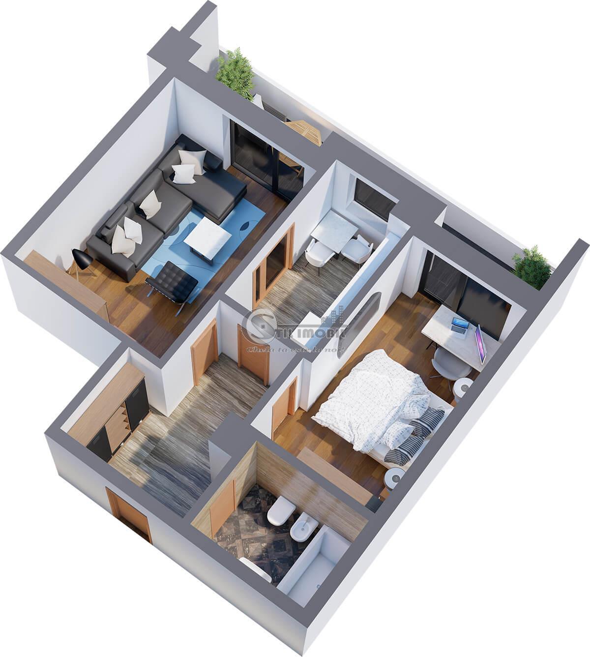 2 camere, 63mp, bloc nou Tatarasi
