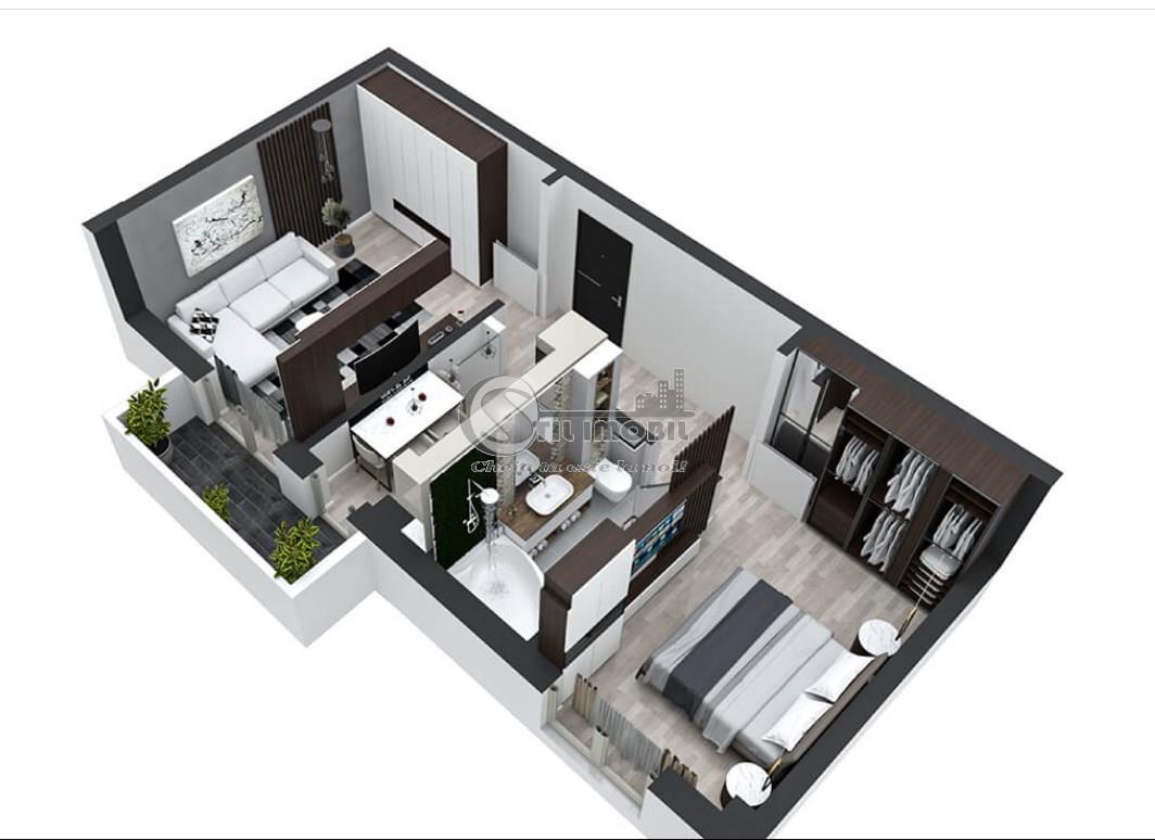 Pacurari 2 camere decomandat, 51mp, bloc nou