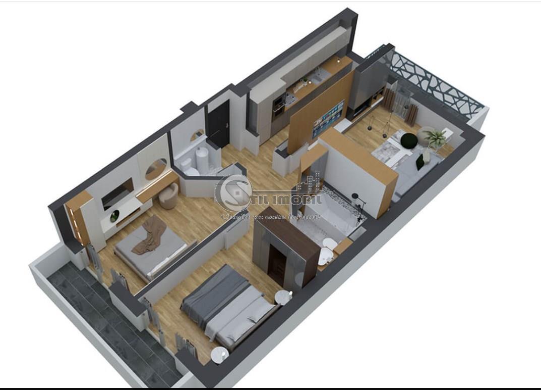 Pacurari 3 camere decomandat, 72mp, bloc nou