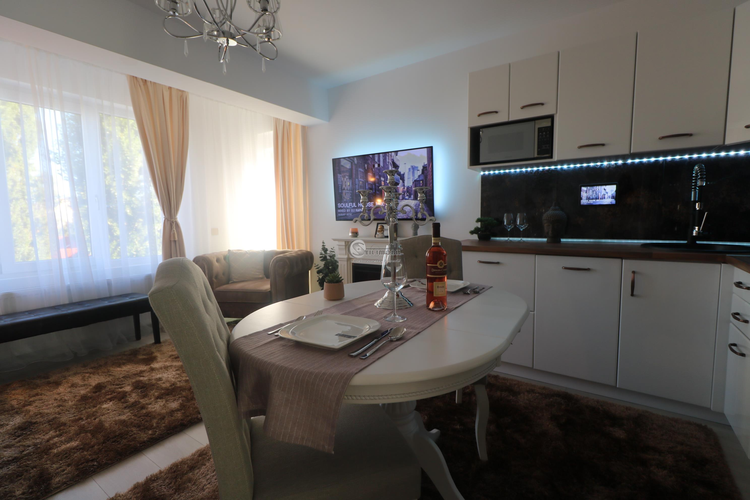 Apartament 3 camere lux mobilat  ,Pd Ros Nicolina