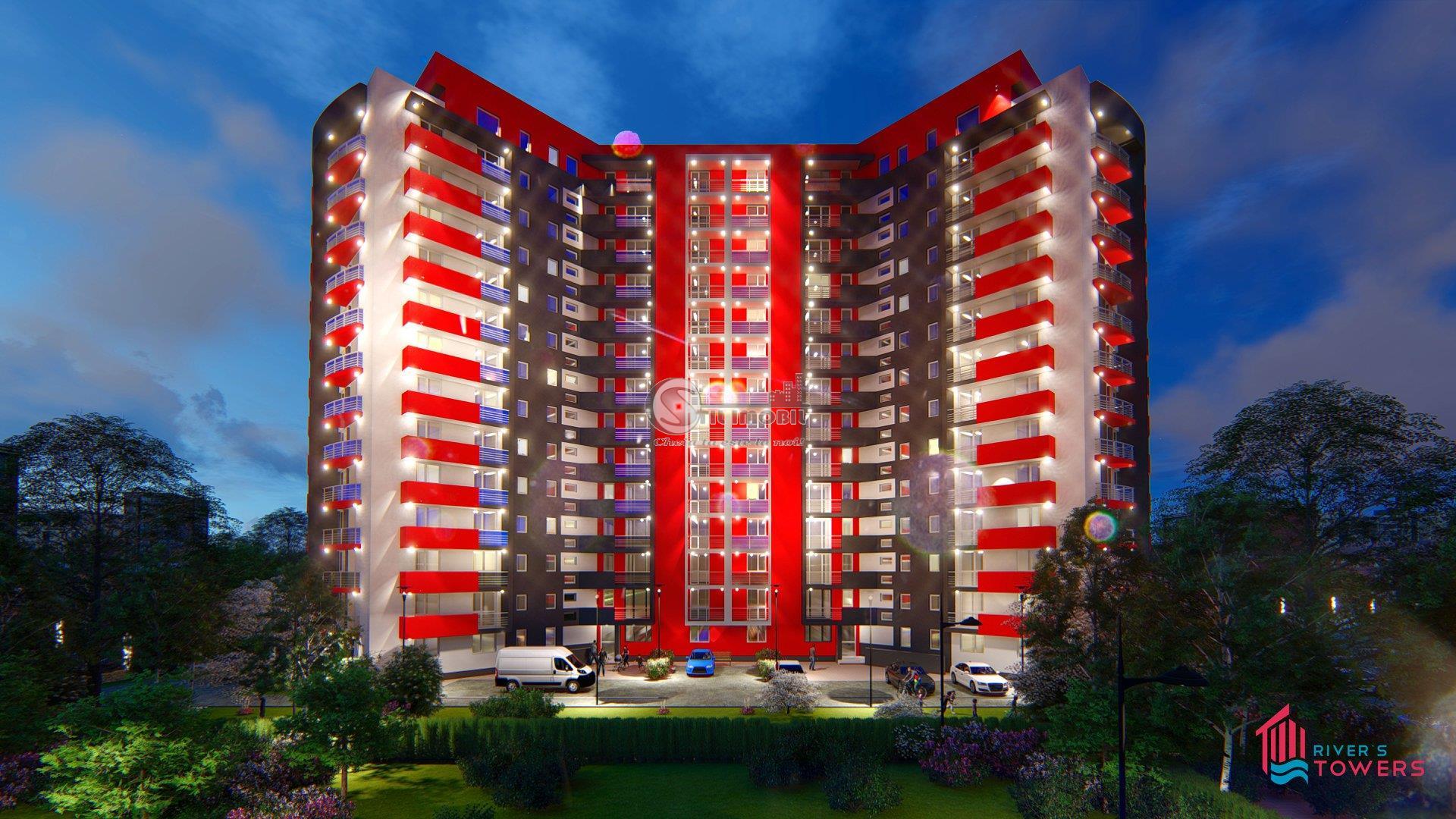 Apartament 2 camere decomandat River Towers+parcare