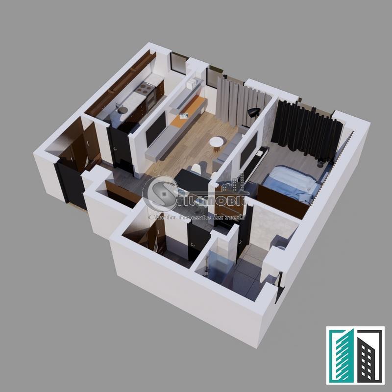 Apartament 2 camere 60 mp Visan- Bellaria